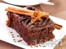 Рецепта Какаов сладкиш / кекс със заквасена сметана, какао, канела и глазура от течен шоколад
